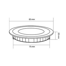 Piastra LED rotonda ultrasottile Ø 8,5x2cm 3W