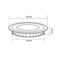 Piastra LED rotonda ultrasottile Ø12x2cm 6W