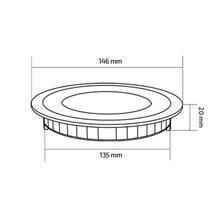 Piastra LED rotonda ultrasottile Ø14'6x2cm 9W