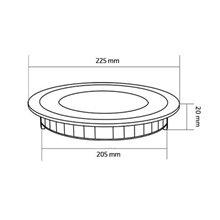 Piastra LED rotonda ultrasottile Ø22'5x2cm 18W