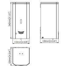 Dispenser di sapone nero 1l automatico Mediclinics