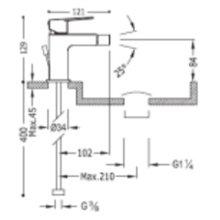 Miscelatore monocomando per bidet con manopola PROJECT TRES