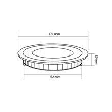 Piastra LED rotonda supersottile Ø17x2 cm 12W nero