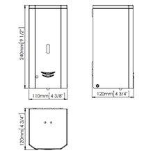 Dispenser automatico schiuma 1l nero Mediclinics