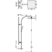 Colonna doccia termostatica in acciaio PROJECT-TRES