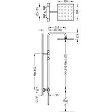 Colonna doccia termostatica telescopica PROJECT-TRES