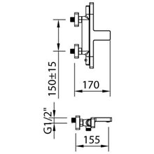 Rubinetto miscelatore termostatico per vasca-doccia Nine Xtreme