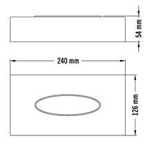 Dispenser fazzoletti grigio Medisteel Mediclinics