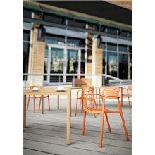 Set di 2 sedie arancioni Toledo Aire Resol