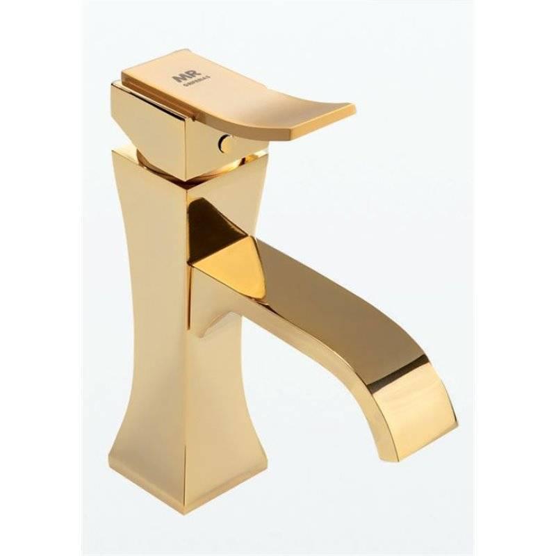Rubinetto miscelatore lavabo oro INCA