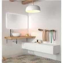 Piano in legno per lavabo da appoggio 4 cm...