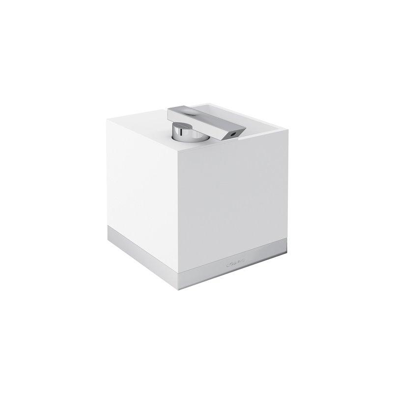 Portaspazzolini con dispenser a parete cromo The Grid COSMIC