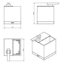 Portaspazzolini con dispenser sapone a parete nero The Grid COSMIC