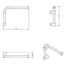 Porta carta igienica / portasciugamani girevole Logic COSMIC