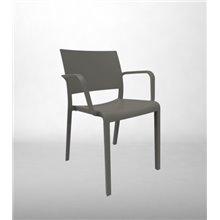 Set di 2 sedie con braccioli grigie New Fiona...