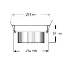 Faretto LED rotondo direzionabile Ø 8,3x6 cm 7W...