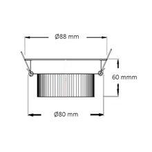Faretto LED rotondo direzionabile Ø 8,8x6 cm 7W...
