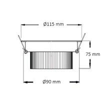 Faretto LED rotondo direzionabile Ø11,5x7,5 cm 12W bianco