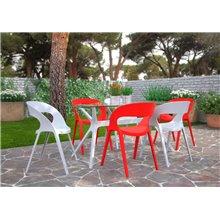 Set di 2 sedie rosse Carla Resol