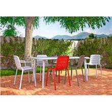 Set di 2 sedie con braccioli bianche Gina Resol