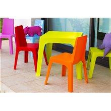 Set di 4 sedie rosa per bambini Julieta Resol