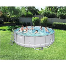 Piscina rotonda 427x107cm POWER STEEL Bestway