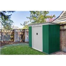 Casetta metallica 2,43m² Buckingham verde Gardiun