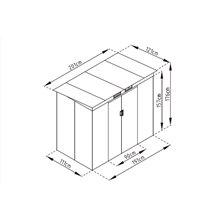 Casetta metallica 2,43m² Buckingham grigio Gardiun