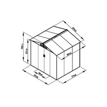 Casetta metallica 3,64m² Manchester Gardiun