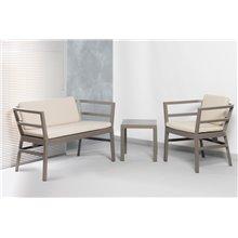 Tavolino d'appoggio color sabbia CLICK-CLACK Resol