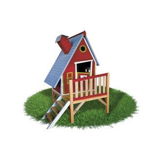 Casetta per bambini 2,82m² Alicia rosso Outdoor Toys
