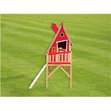 Casita infantil 2,28m² Gulliver roja Outdoor Toys