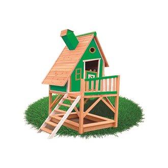 Casetta per bambini 2,28m² Pinocchio verde Outdoor Toys