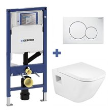 Set vaso wc THE GAP ROCA e cassetta GEBERIT DUOFIX 12 cm
