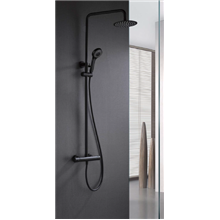 Colonna doccia termostatica nero opaco Imex Londra