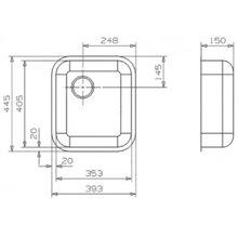 Lavello speciale L18 4035 quadrato Galindo