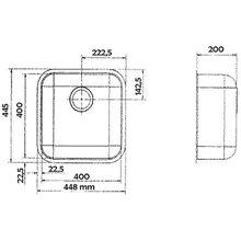 Lavello Speciale IB 40x40 quadrato Galindo