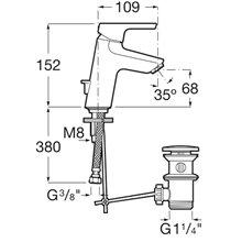 Miscelatore lavabo scarico automatico Malva Roca