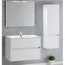 Set mobile con lavabo integrato a 2 cassetti e specchio DECO LINE Sanchis
