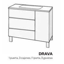 Mobile fenolico per bagno con lavabo DRAVA - Doccia Group
