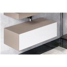 Mobile ausiliare da bagno metallico con cassetto ROTI Doccia