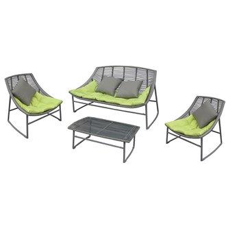 Set mobili di alluminio e rattan SIESTA Resol