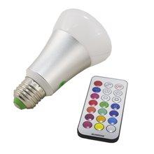 Lampadina LED con luce RGBW da 10W E27