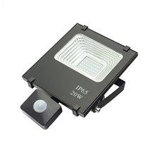 Riflettore LED quadrato 20 W con sensore
