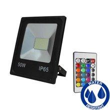 Riflettore LED quadrato 50 W PIATTO RGB