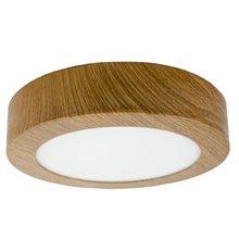 Plafoniera LED rotonda Ø17x4 cm 12W legno