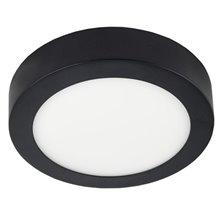 Plafoniera LED rotonda Ø22x4 cm 18 W nera