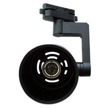 Faretto cilindrico con binario E27 nero