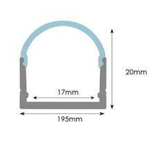 Profilo per striscia LED rettangolare in...