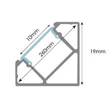 Profilo per striscia LED angolare in alluminio...